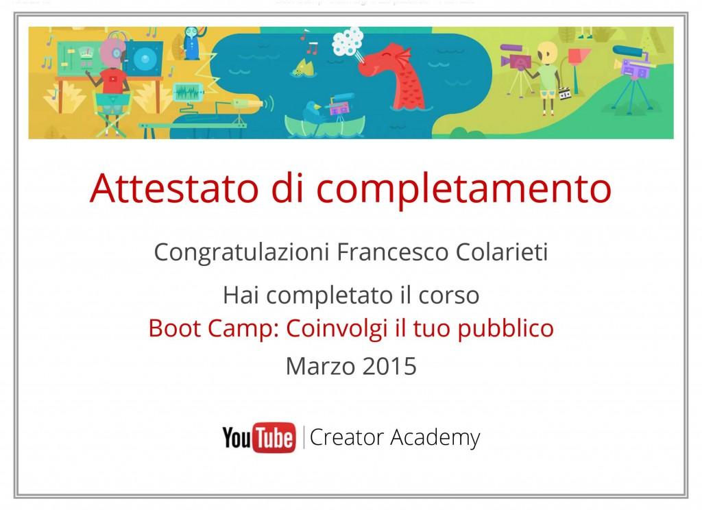 Boot Camp You Tube Convogli il Tuo Pubblico Marzo 2015