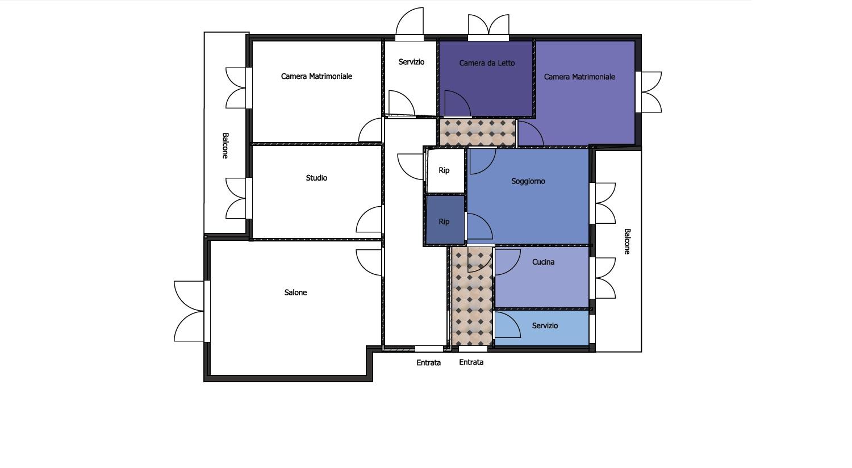 Cerchi una casa divisibile in due rieti viale maraini for Planimetrie dell armadio